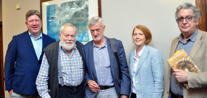 POETS - A pentameter of poets at Clifden Arts Festival. Ben Keating, MIchael Longley, Bernard O'Donohue, Lucy Collins and Gerard Dawe. Picture by Bill Heaney.jpg