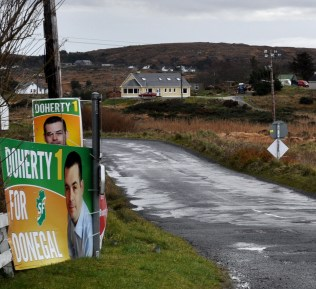 election posters near Dungloe in Co Donegal