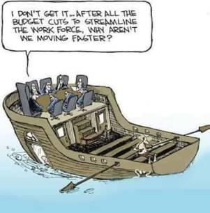 Budget cuts cartoon