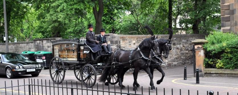 Funeral in an Edinburgh street