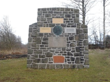 Monument to Don Roberto - now re-erected at Gartmore.