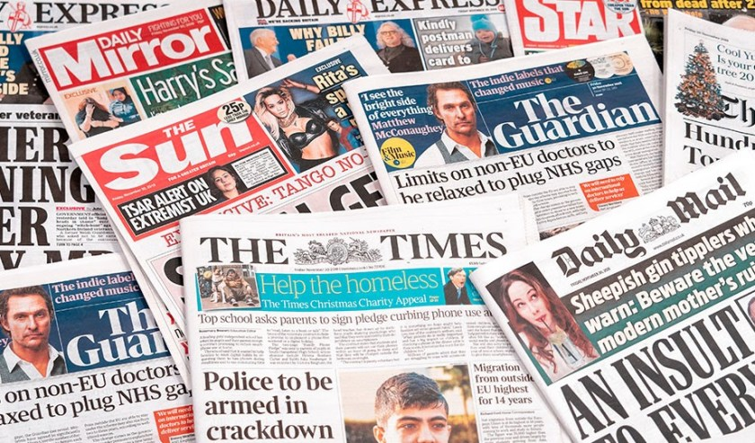 Newspaper montage