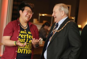 STUC Youth Conference 2019 PIC SHOWS Provost William Hendrie with STUC chair Anthea Koon