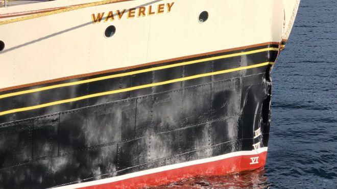 Waverley after the crash at Arran