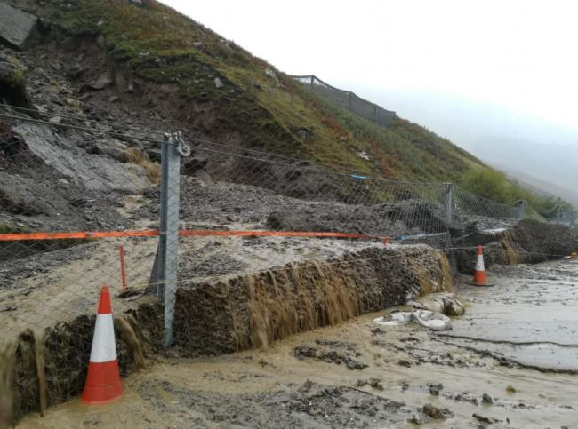 HEAVY RAIN FORECAST FOR WEST LEADS TO ROAD CLOSURES