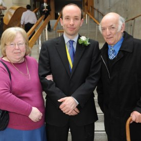 Biagi, Tony, Mark and Mary at Scottish Parliament