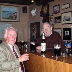 Dan and Iggy Murray in the Atlantic Bar, Kincasslagh