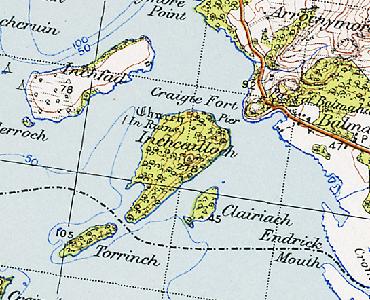 Balmaha map showing Incailleach