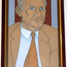 Dan Lynch portrait by Alasdair Gray