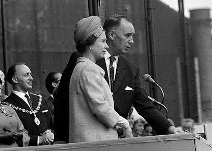 QE2 launch with the Queen and John Rannie