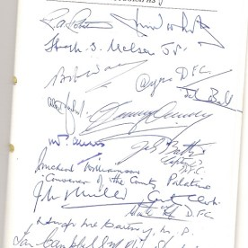 Dumbarton FC Centenary Dinner Menu (autographs)