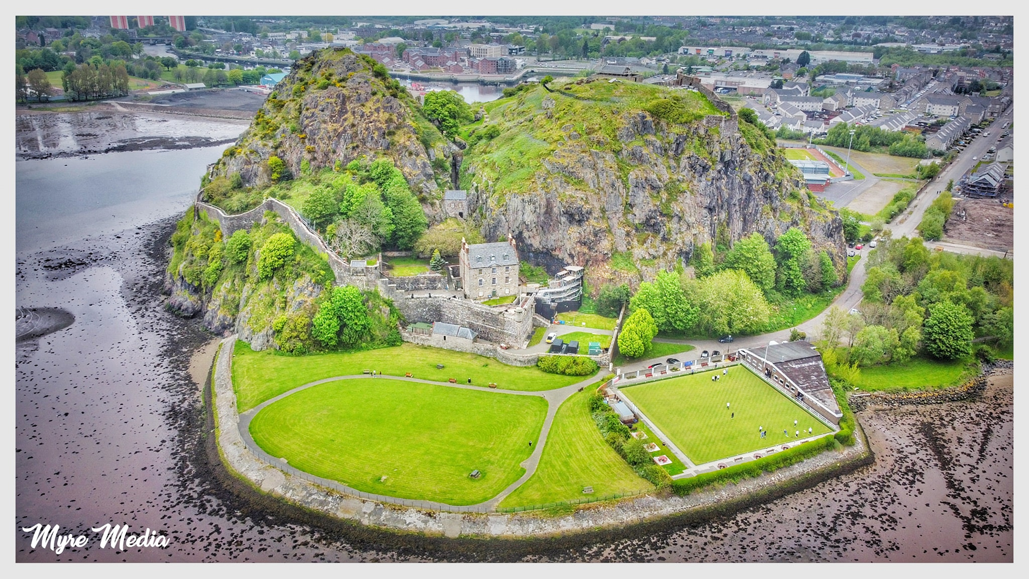DUMBARTON FROM THE AIR BY SEAN DAVENPORT OF MYRE MEDIA