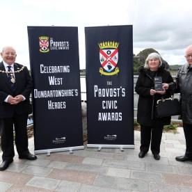 Provost Awards 2021 PIC SHOWS Provost Hendrie with Julie and David Mcgowan