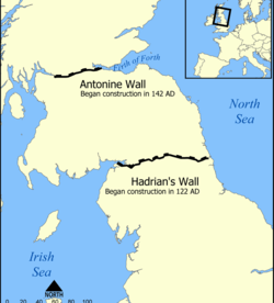 Antonine Wall route map