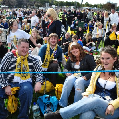 Papal Mass in 2010 - members of the Monaghan family and friends from Dumbarton.