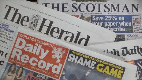 NEWSPAPERS: FRIDAY'S HERALD FRONT PAGE