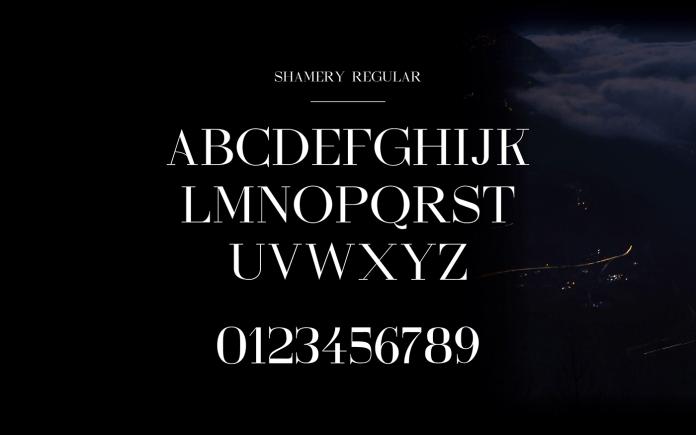 Shamery Typeface