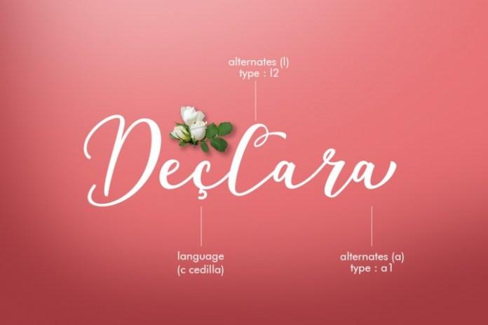 Declara Script Font