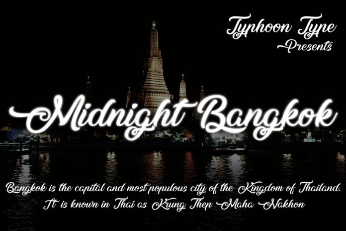 Midnight Bangkok Font