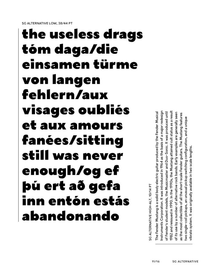 SG Alternative Font Family