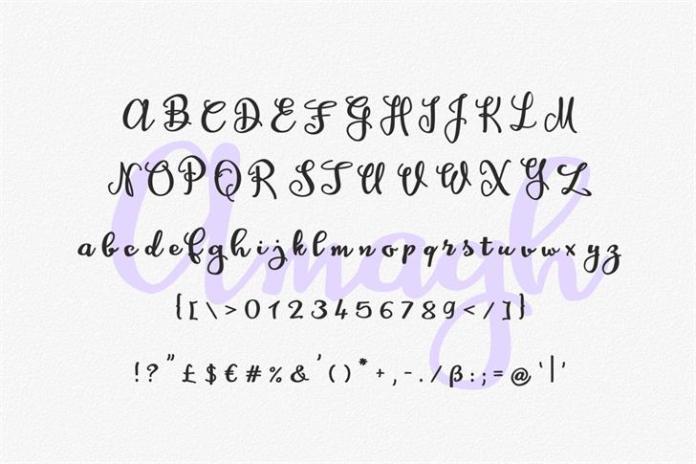 Amagh Script Font