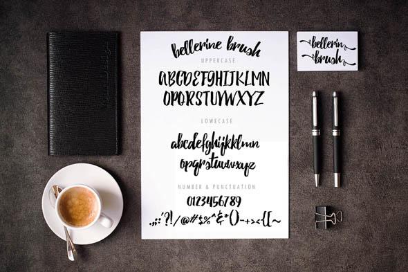 Bellerine Brush Font
