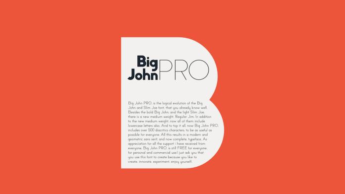 Big John PRO Typeface
