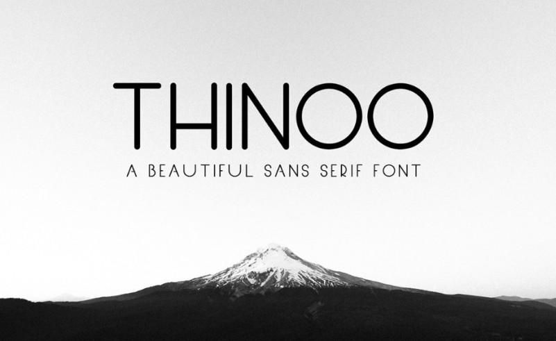 Download Thinoo Sans Serif Font - Demofont.com