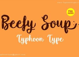 Beefy Soup Font