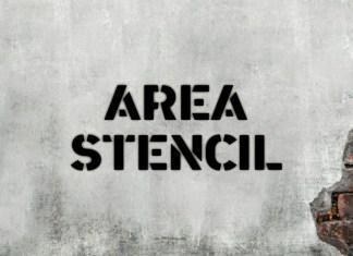 Area Stencil Font