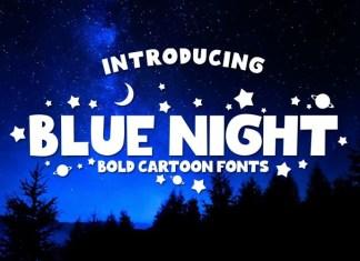 Blue Night Font