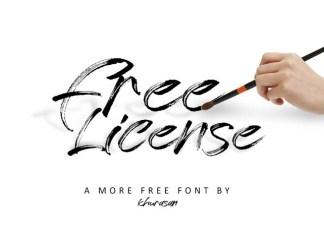 Free License Font
