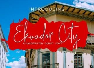 Ekuador City Font