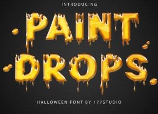 Paint Drops Font