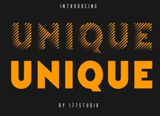 Unique Stripes Font
