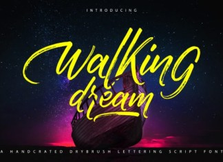 Walking Dream Font