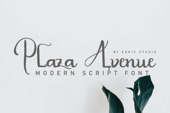 Plaza Avenue Font