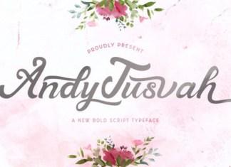 Andy Tusvah Font
