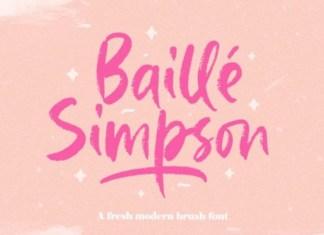 Baille Simpson Font