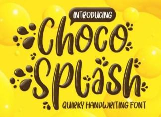 Choco Splash Font