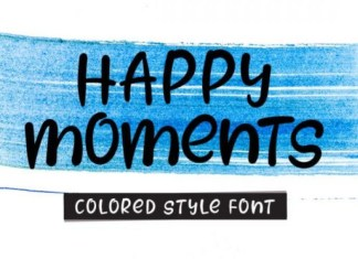 Happy Moments Font