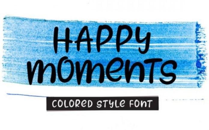 Happy Moments Font