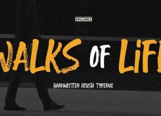 Walks Of Life Font