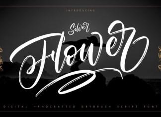 Silver Flower Font