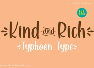 Kind and Rich Font