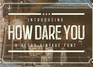 How Dare You Font