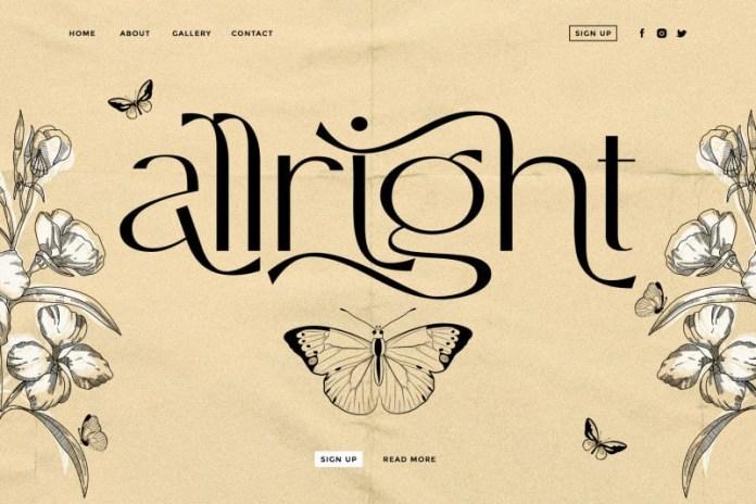 Allright Font