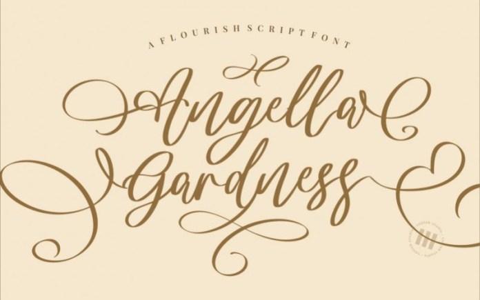 Angella Gardness Font