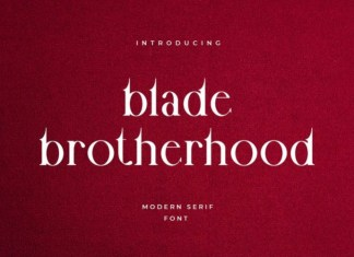 Blade Brotherhood Font
