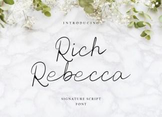 Rich Rebecca Font